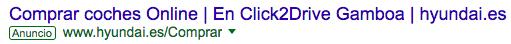 Ejemplo de URL Visible