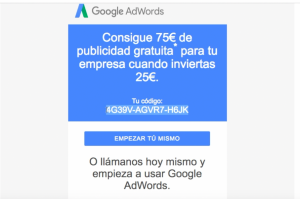cupon de google ads